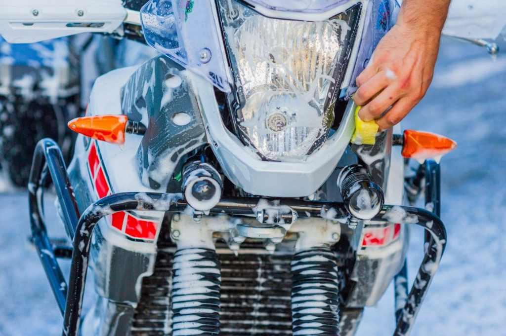 motor wassen koplamp