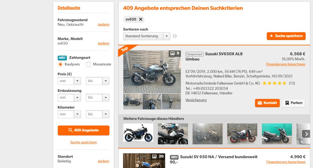 importmotor zoeken op Mobile.de