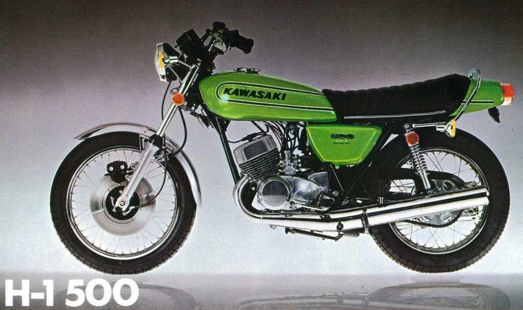 Een van de meest beruchte oldtimers van Kawasaki: De Kawasaki H1 500