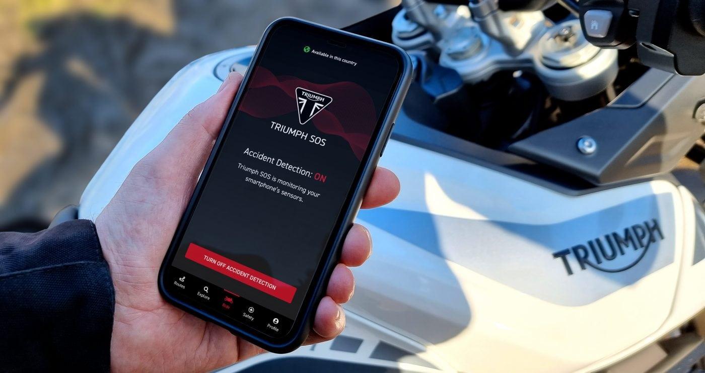 Nooit meer verdwalen met de Triumph SOS app